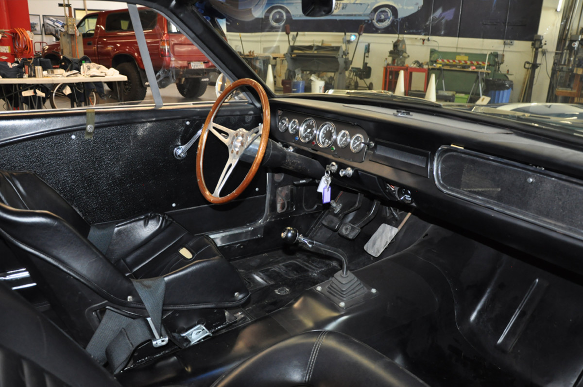 The interior of the OVC Shelby GT350 Competition is rather bare-bones and like the originals, is all business with little or no creature comforts included