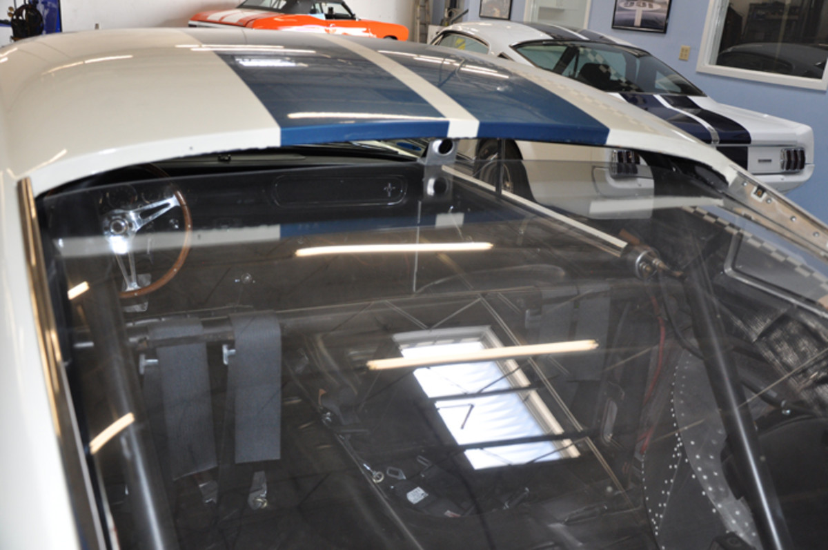 One of Peter Brock's contributions to the OVC Shelby GT350 Competition model was the Plexiglas back window that allows for better ventilation.