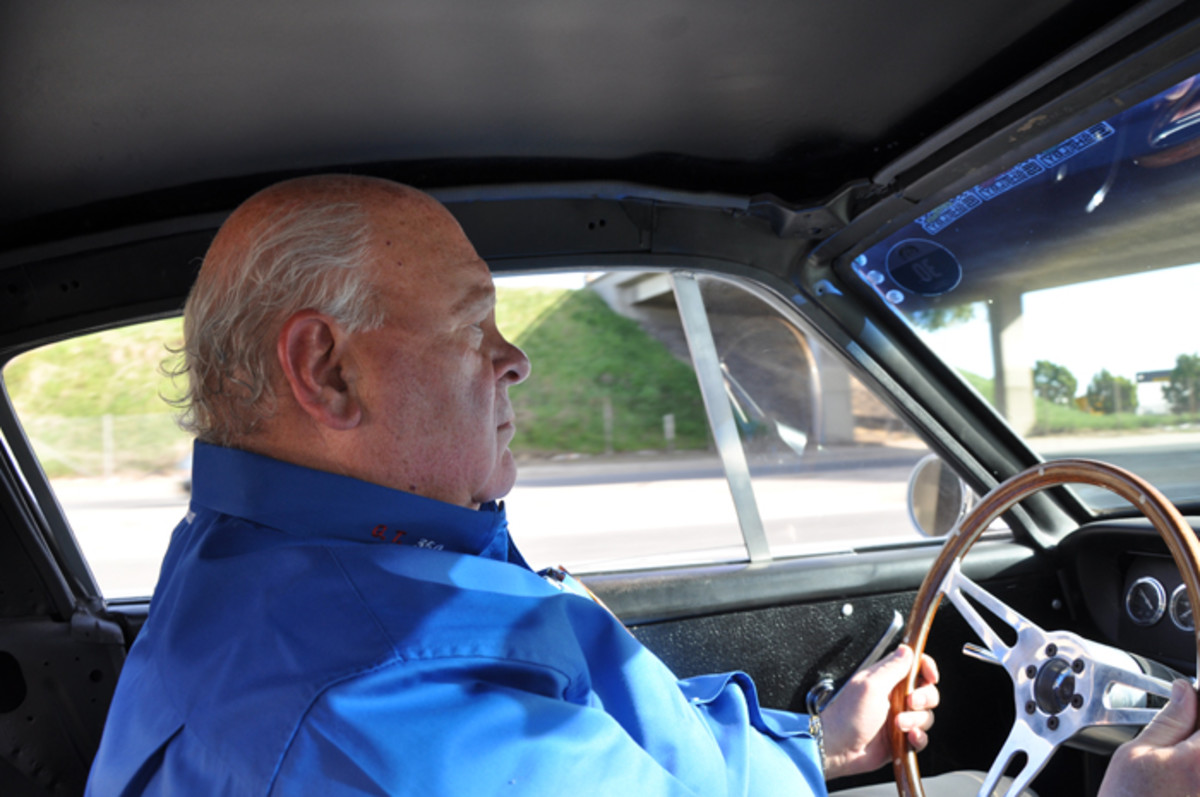 Original Venice Crew founder Jim Marietta seemed quite at home behind the wheel of the prototype GT350 Competition model and proved this car's handling and performance.