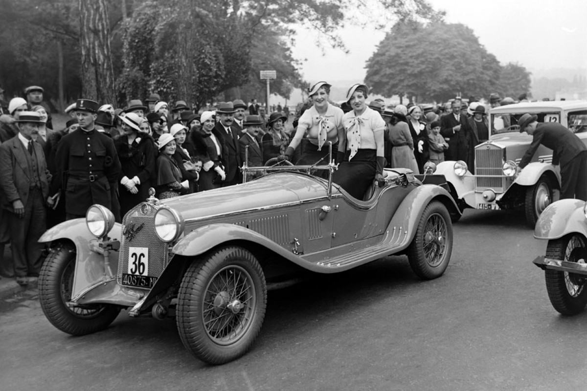 Mary Costes, who had appeared in no less than three French films in 1931, posed in a new Alfa Romeo with roadster coachwork at an unknown concours that year. While Costes' films aren't remembered in America, the Alfa is still beloved throughout the world as one of the finest from that Italian firm.