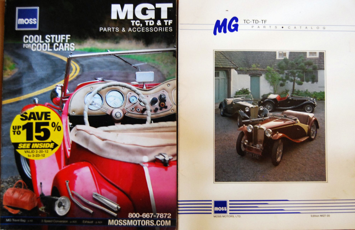 Moss catalogs have been distributed many years. (Right) 1991; (Left) 2012.