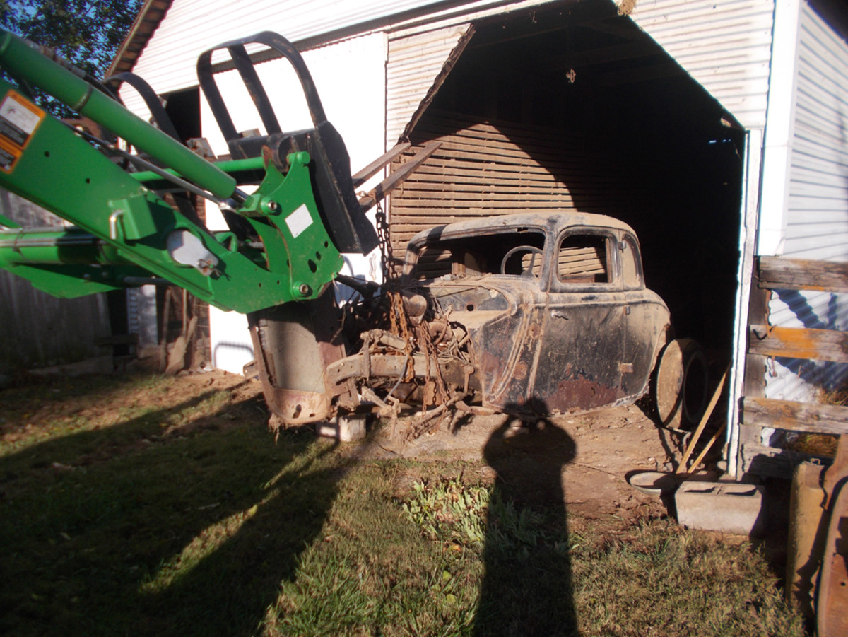 Pulling it from its resting place in a Virginia barn in October 2019.