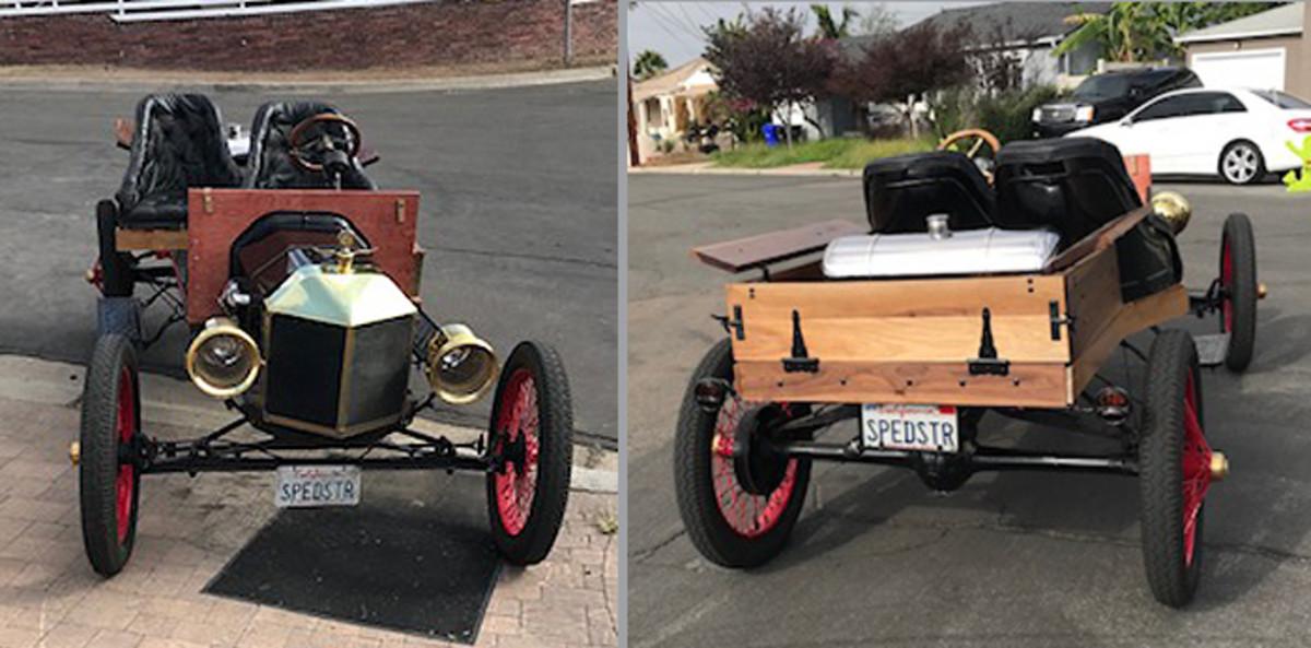 1914 Ford Speedster Front and back