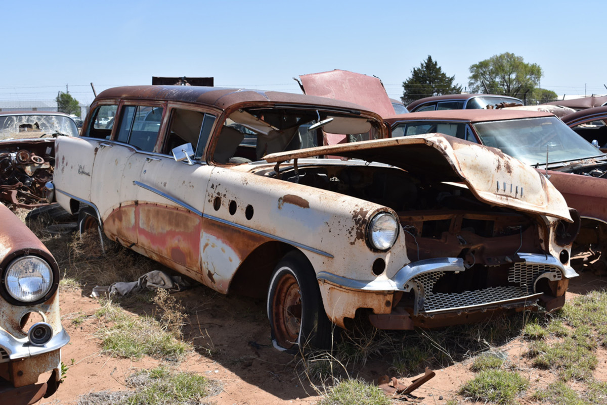 Its glory days are behind it, but there's still lots of parts to be found on this 1955 Buick Special Estate Wagon.