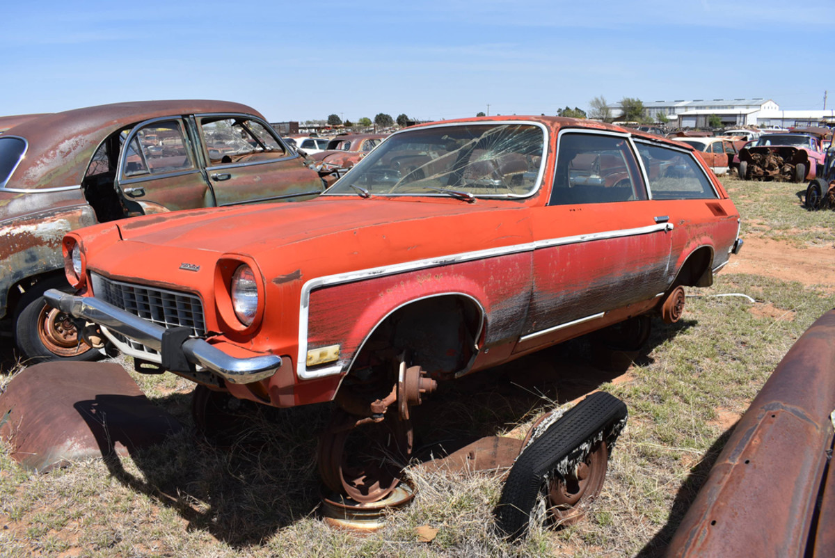 Almost 50 years ago, Chevrolet brought us the Vega. Owens Salvage had several early examples available for parts such as this rare 1973 Kammback.
