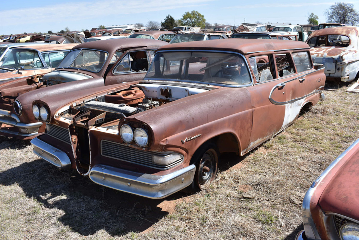 We found a few items on this 1958 Edsel Villager wagon, but plenty more remain to be harvested.
