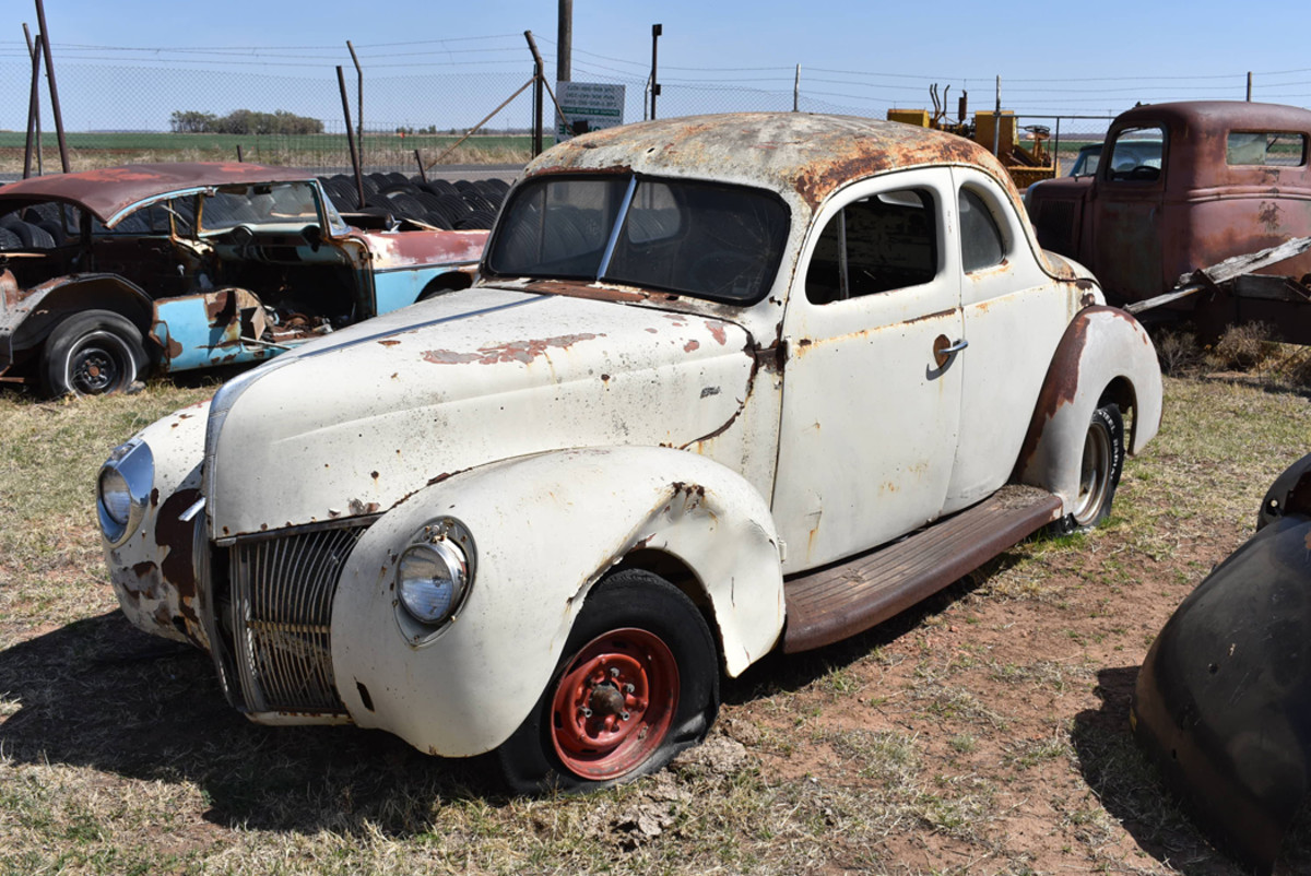 This 1940 Ford V-8 coupe was a fairly complete project car,and a perfect candidate for cruising the Texas back roads.