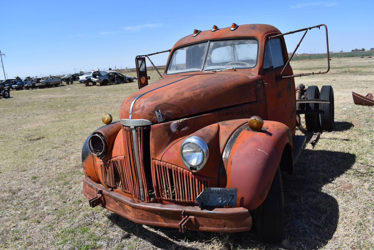 We found relatively few trucks at Owens Salvage, but the ones we found were impressive such as this 1947 Studebaker tractor.
