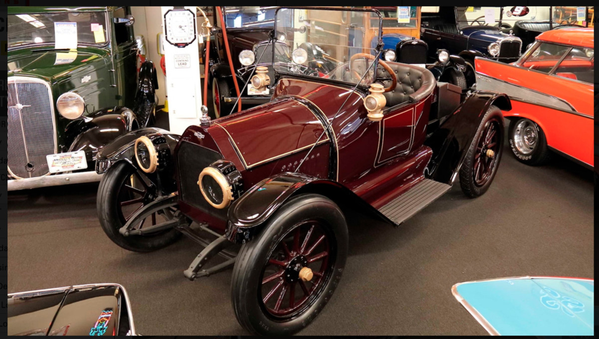 A 1914 Chevrolet Royal Mail roadster is one of the many prewar Chevys in the collection.