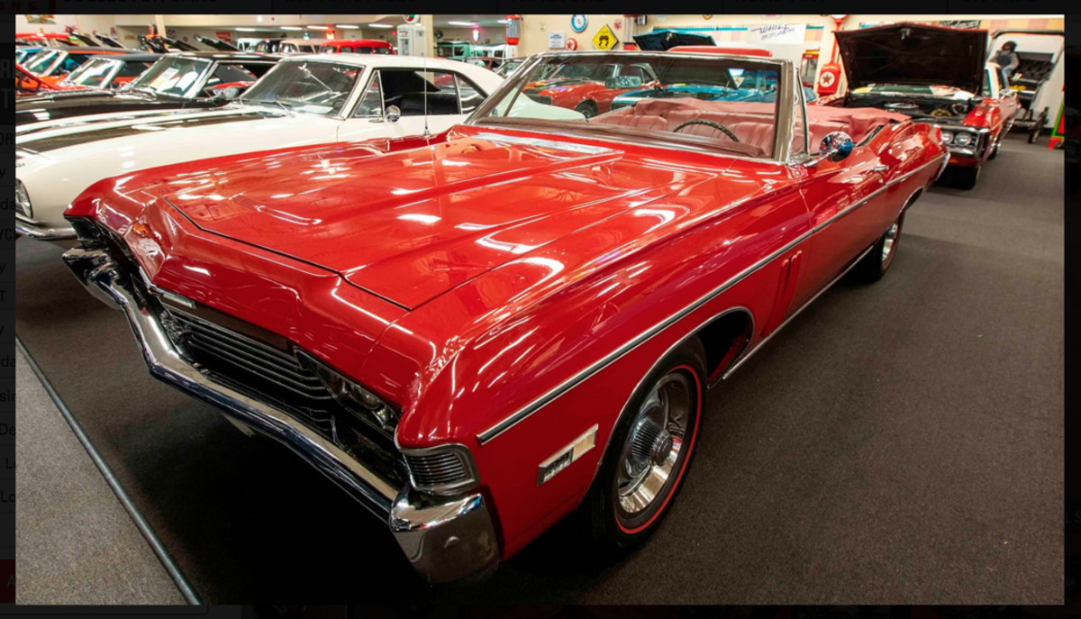 Full-size muscle is well-represented in the collection and includes this 1968 Impala SS 427 convertible.