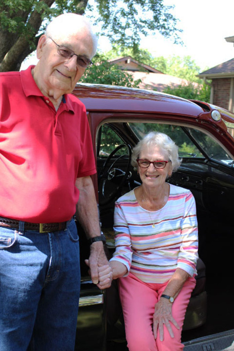 Bob and Jo Hubbard have taken fall road trips in their 1951 Mercury for 25 years.