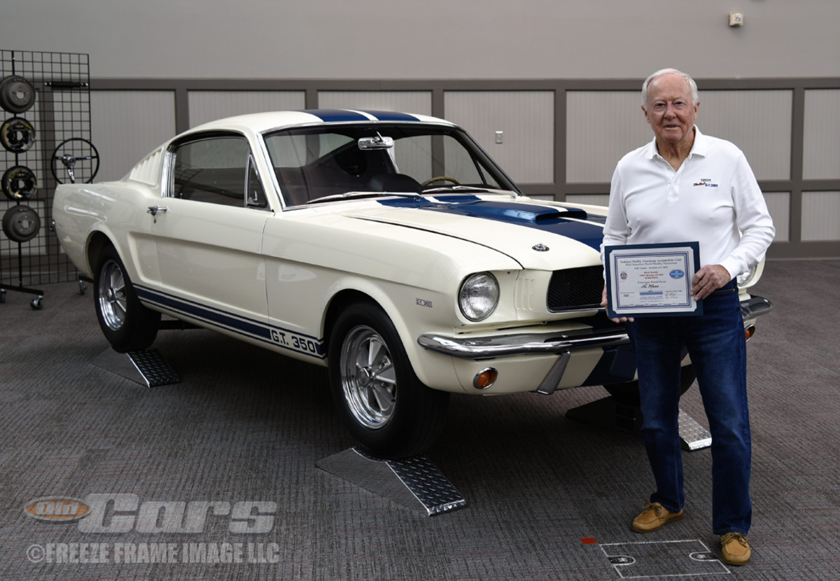 Owner Nick Smith with the 1965 GT350 003 Shelby Mustang prototype during its debut at the Fall Classic of the Indiana SAAC (Shelby American Automobile Club) Day-View in French Lick, Ind.