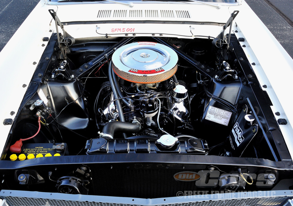 BEFORE SHELBY GT350 - The high-performance K-code 289-cid V-8, as delivered from Ford, was capable of 271 hp.