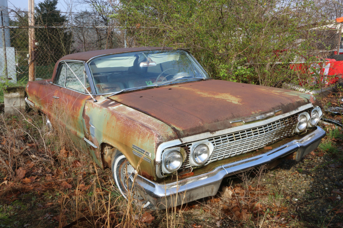 This 1963 Chevrolet Impala is an automatic with an original 283-cid V-8 engine.