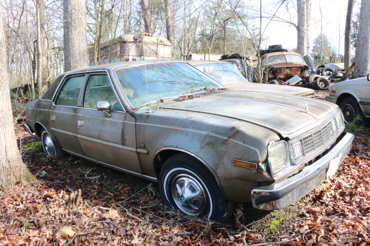 "Another car for sale as a complete unit is this 1978 AMC Concord D/L. AMC called it a ""luxury compact"" car."