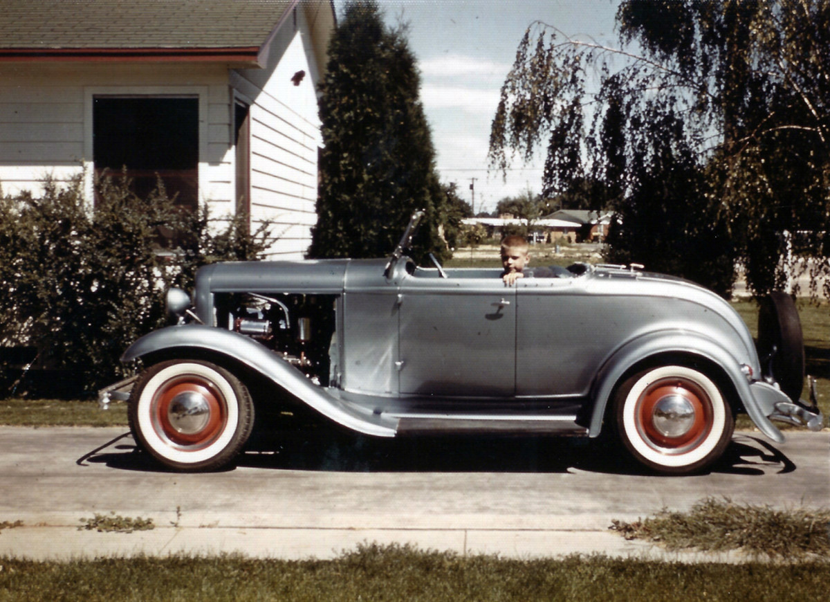 The 1932 Ford roadster in after its first paint job in 1962.