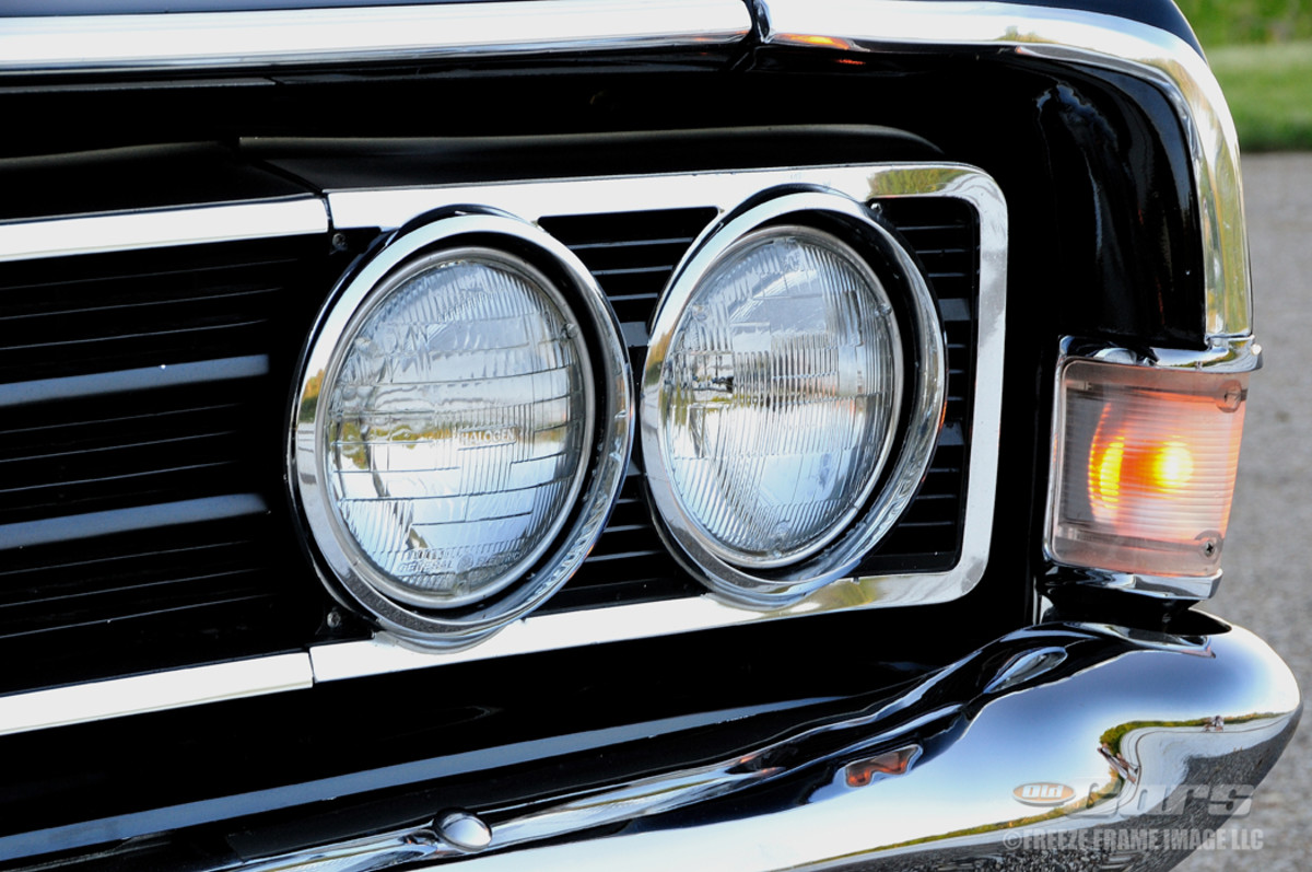 The recessed grille and headlamps weren't advantageous in extended-length races, but were just fine for quarter-mile stints.
