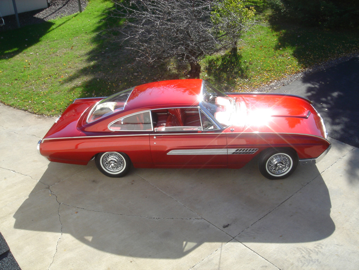 "There used to be a place in Lakeville, Minn., that specialized in making acrylic displays for retail stores. The owner was a ""car guy"" and would make custom acrylic parts for various car projects. I heard about him while I was restoring the Thunderbird Italien concept car (above) and had him make the large rear window."