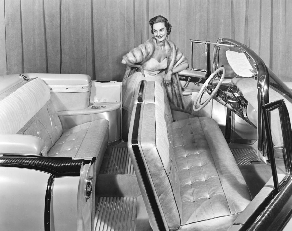 "A period photo of the original 1955 Cadillac Eldorado ""St. Moritz"" while on the Motorama show circuit."