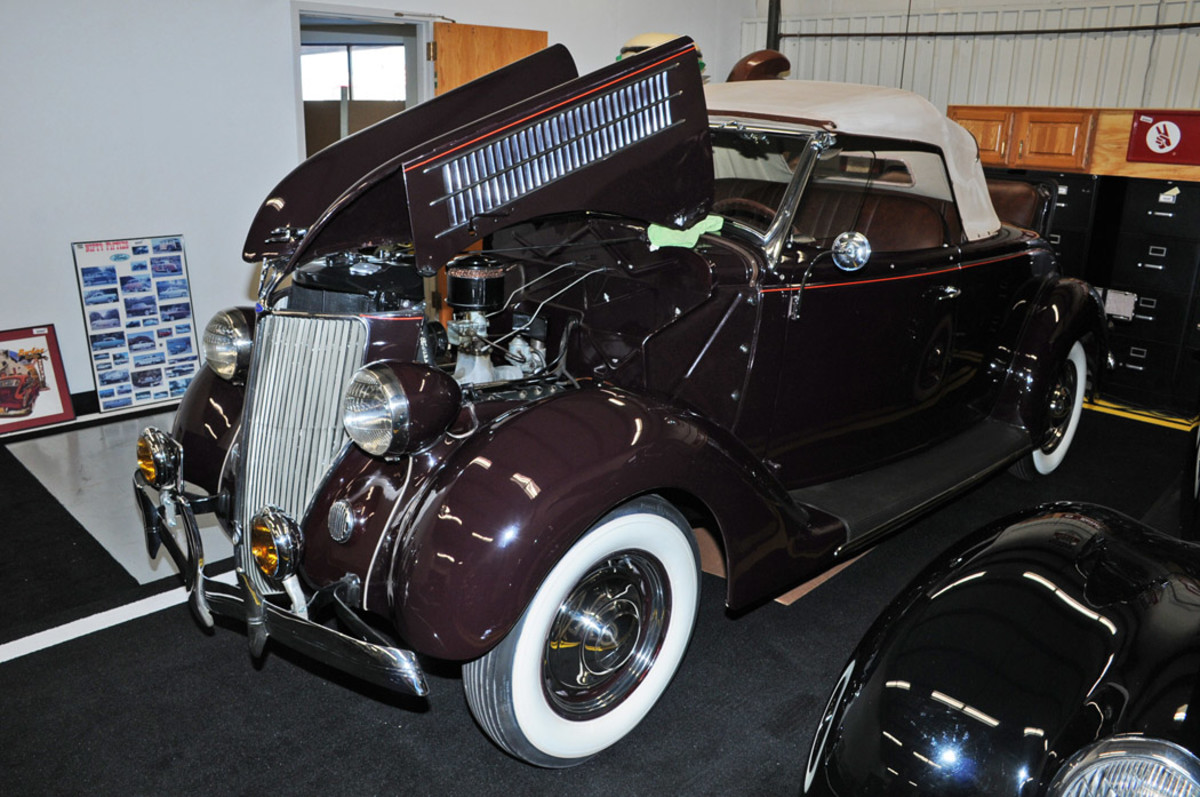 1936 Ford Deluxe 2-dr roadster, Condition #3, sold for $49,000.