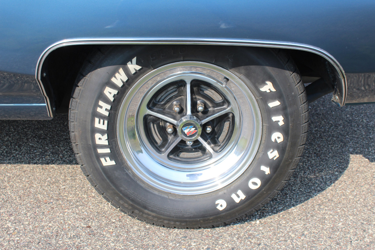 Quinn believes the wheels to be original.