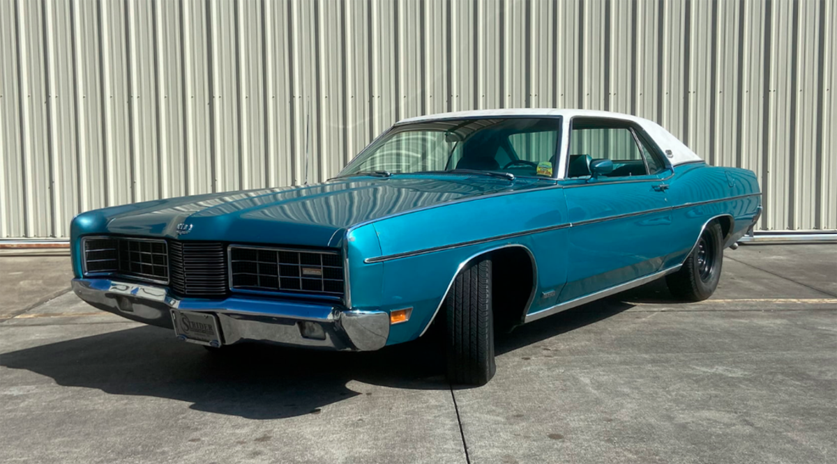 1970 Ford LTD coupe with a 429-cid V-8 and a four-speed