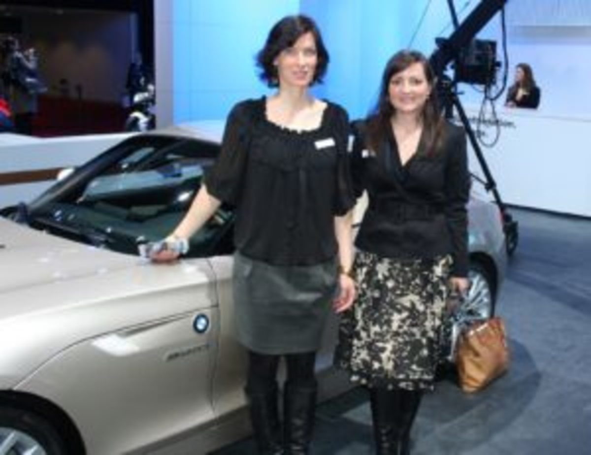 Juliane Blasi, left, and Nadya Arnaout combined to design BMW's first Z4 hardtop convertible.