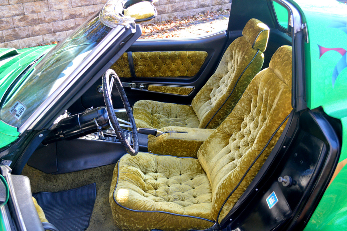 Dig the crushed velvet and shag on the interior!