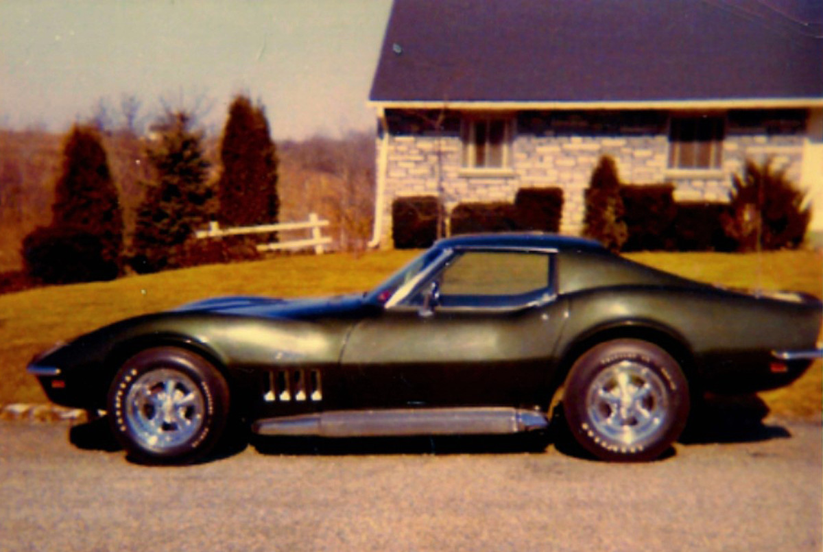 The Corvette sported Fathom Green back in 1969.