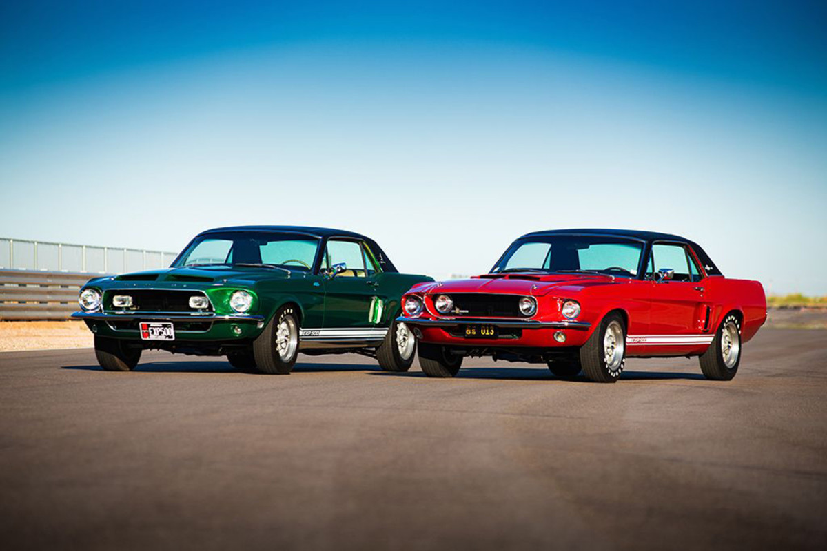 """""""Green Hornet"""" and """"Little Red"""" Shelby Mustang prototypes after complete restorations"""