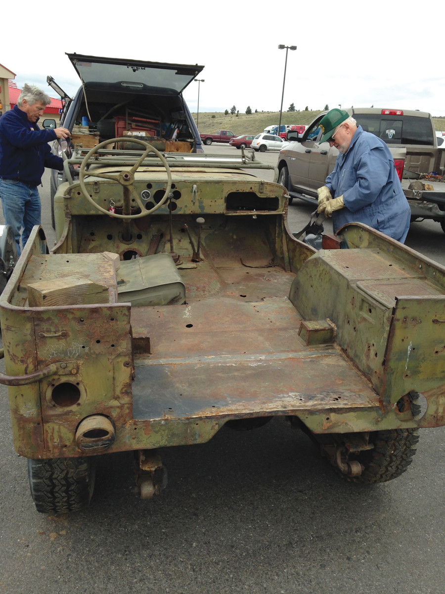 When we met the jeep in Butte, it wasn't quite what I had expected. It was in far worse condition that what the seller's photos had shown. Regardless, I loaded it on the tow dolly for the final trip to our home in Spokane.