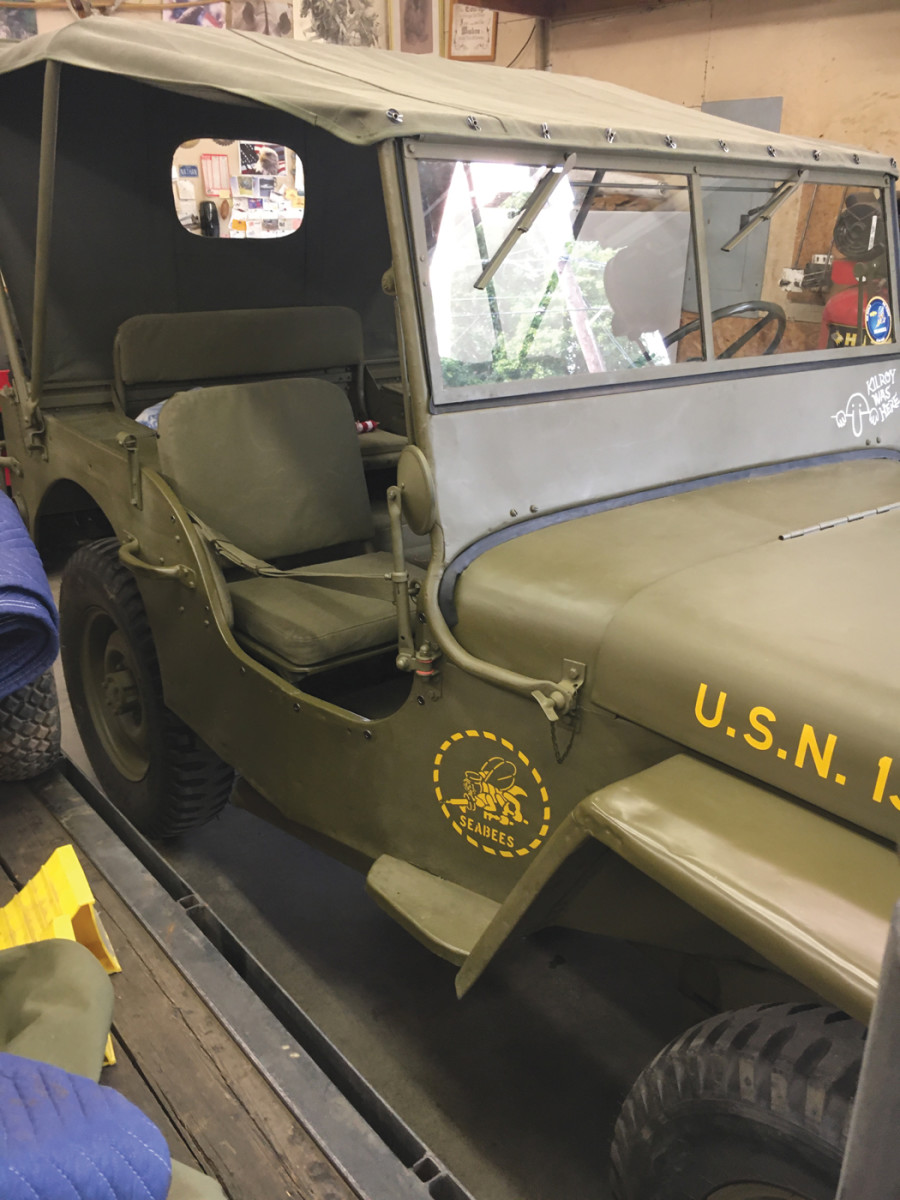 Since I already had one historic military vehicle (a WC-12) restored as an Army vehicle, I decided to recreate a Seabee vehicle with this Jeep restoration.