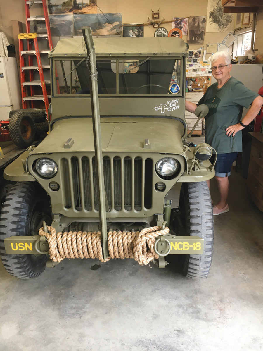 Finally, perseverance paid off — the Jeep was finished. I proudly gave it to Pris. This was truly a project of love and devotion!