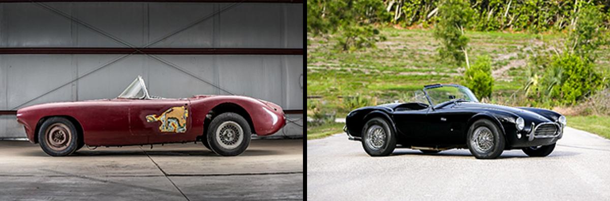 LEFT: 1960 Chevrolet Corvette Le Mans RIGHT: 1965 Shelby 289 Cobra