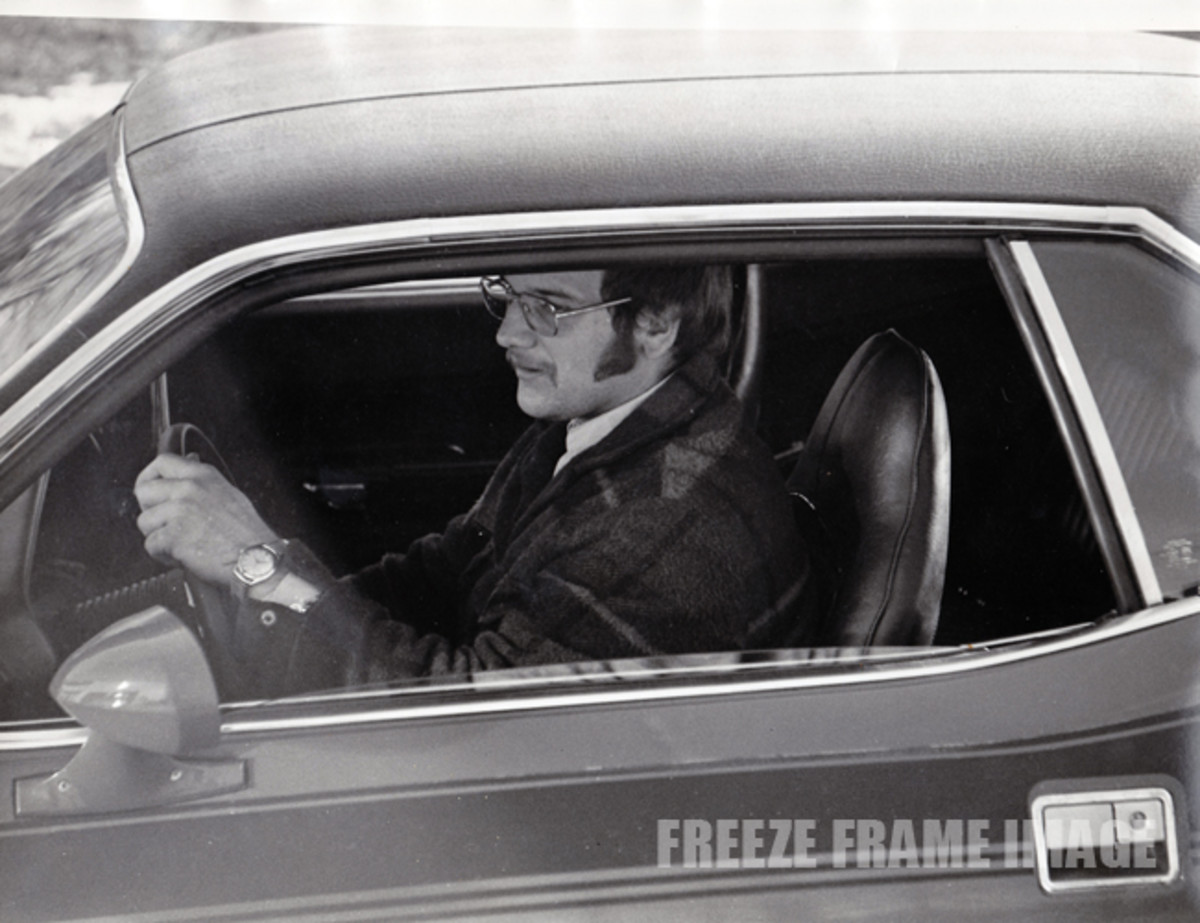 Keith in 1974 with his new 'Cuda
