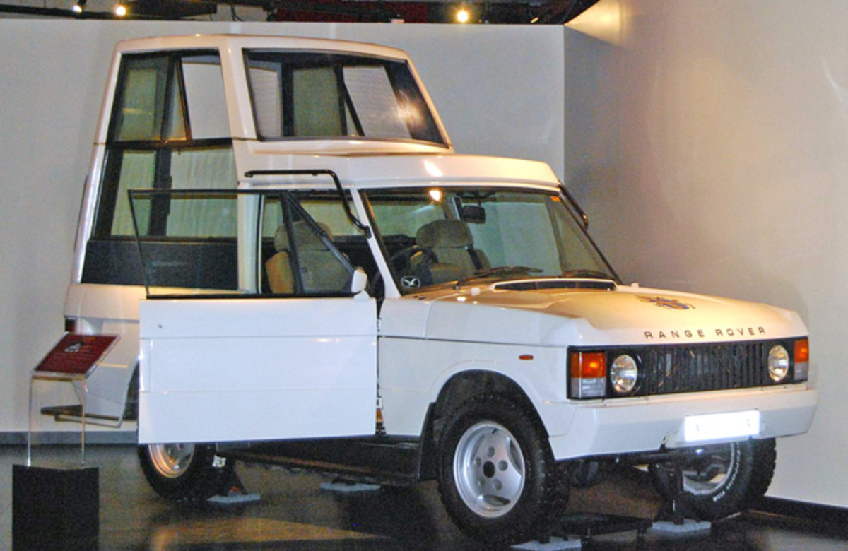 The National Museum of Funeral History has the Popemobile on display.
