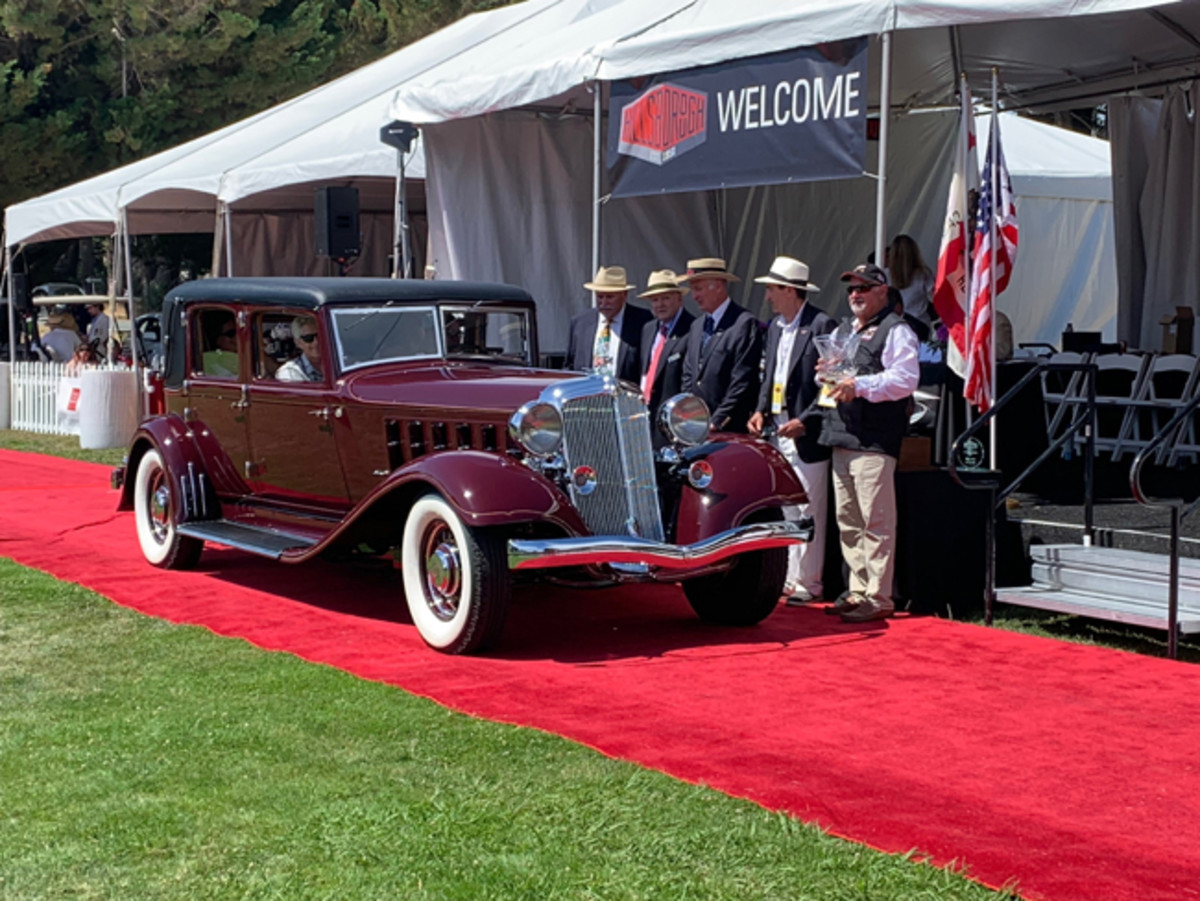 Best of Show Winner - 1933 Chrysler Imperial LeBaron CL. Photo - Hillsborough Concours d'Elegance