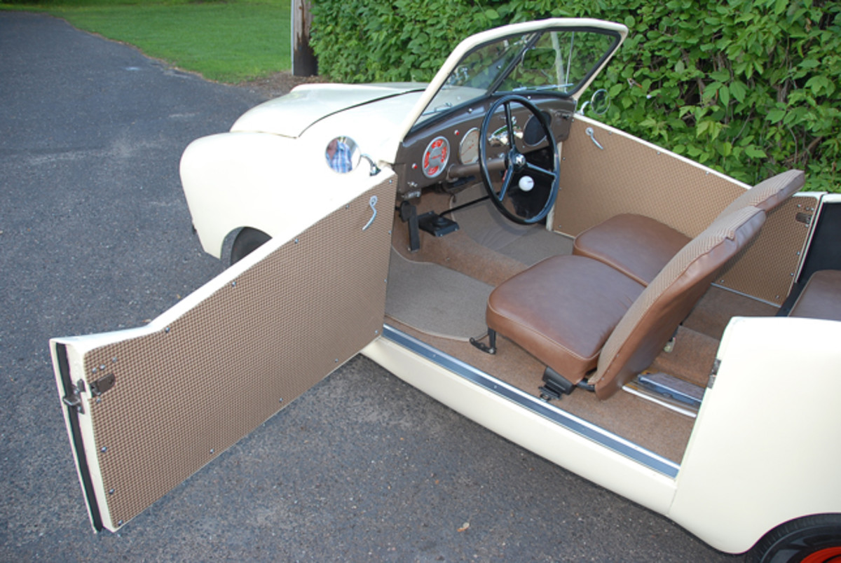 Now finished, the interior required needed several major parts when Yoho purchased it.
