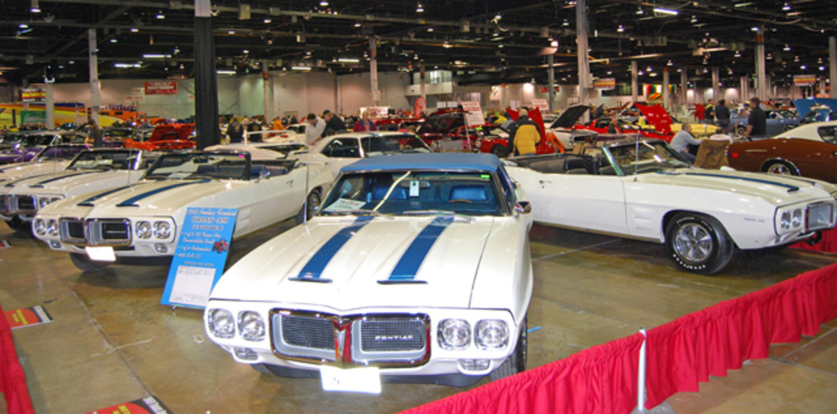 Pontiac only built eight Trans Am convertibles in 1969 and six of them were featured in this grouping inside the Rosemont Convention Center.