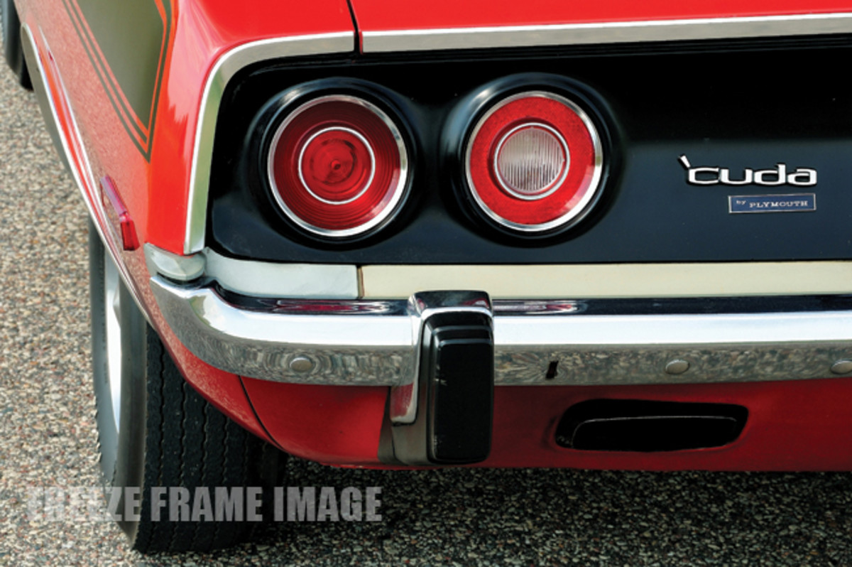 Plymouth switched to the round tail lamps that would remain until Barracuda production ceased after the 1974 model year.