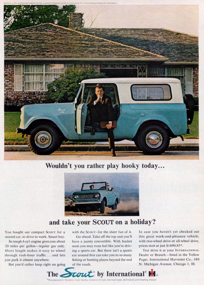 Santa could bring you a fun, rugged new 1964 International Scout for about $1,700.