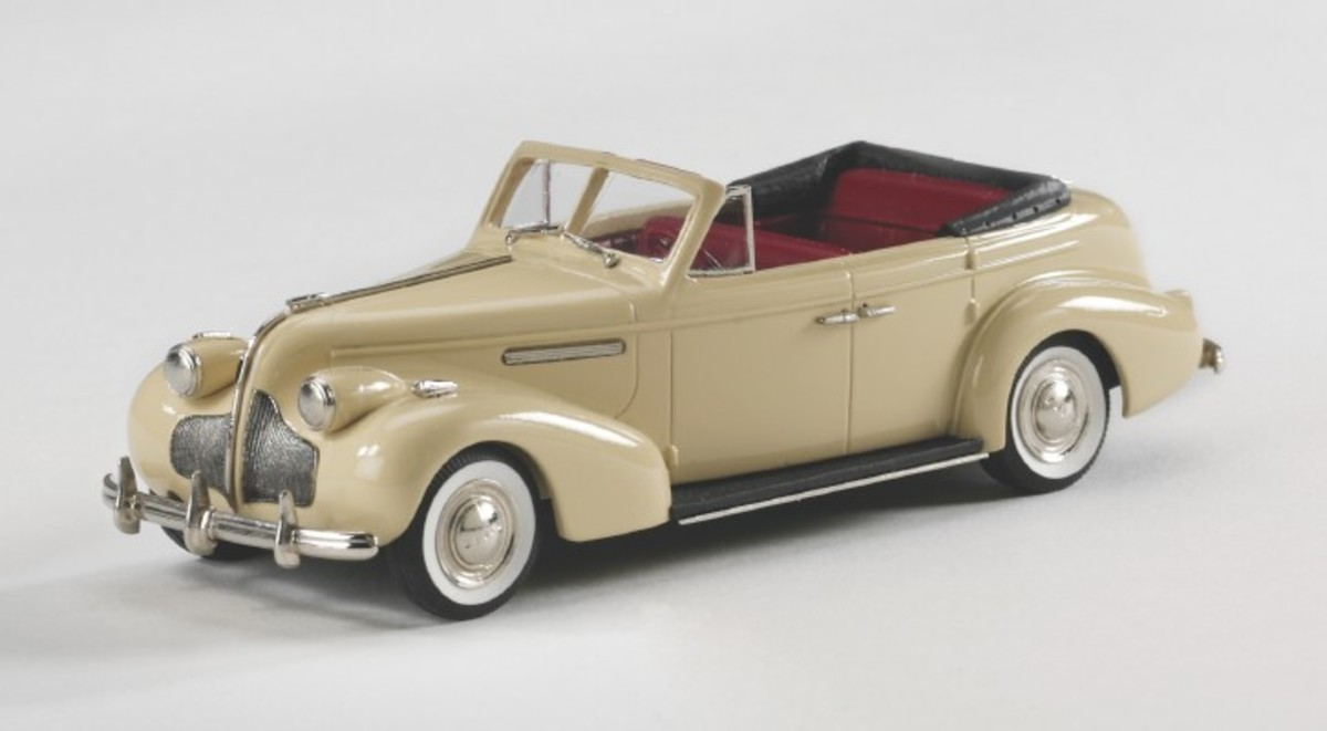 Brooklin's new 1939 Buick Century convertible sedan is a high-quality, hand built model in 1:43 scale.