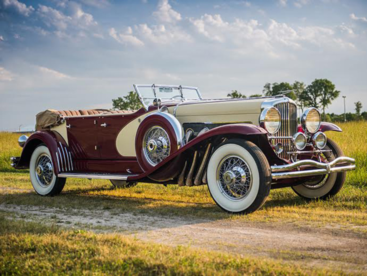 1933 Duesenberg Model SJ 'Sweep Panel' Phaeton by LaGrande set for Auctions America's flagship Auburn Fall sale (credit – Darin Schnabel © 2017 Courtesy of Auctions America
