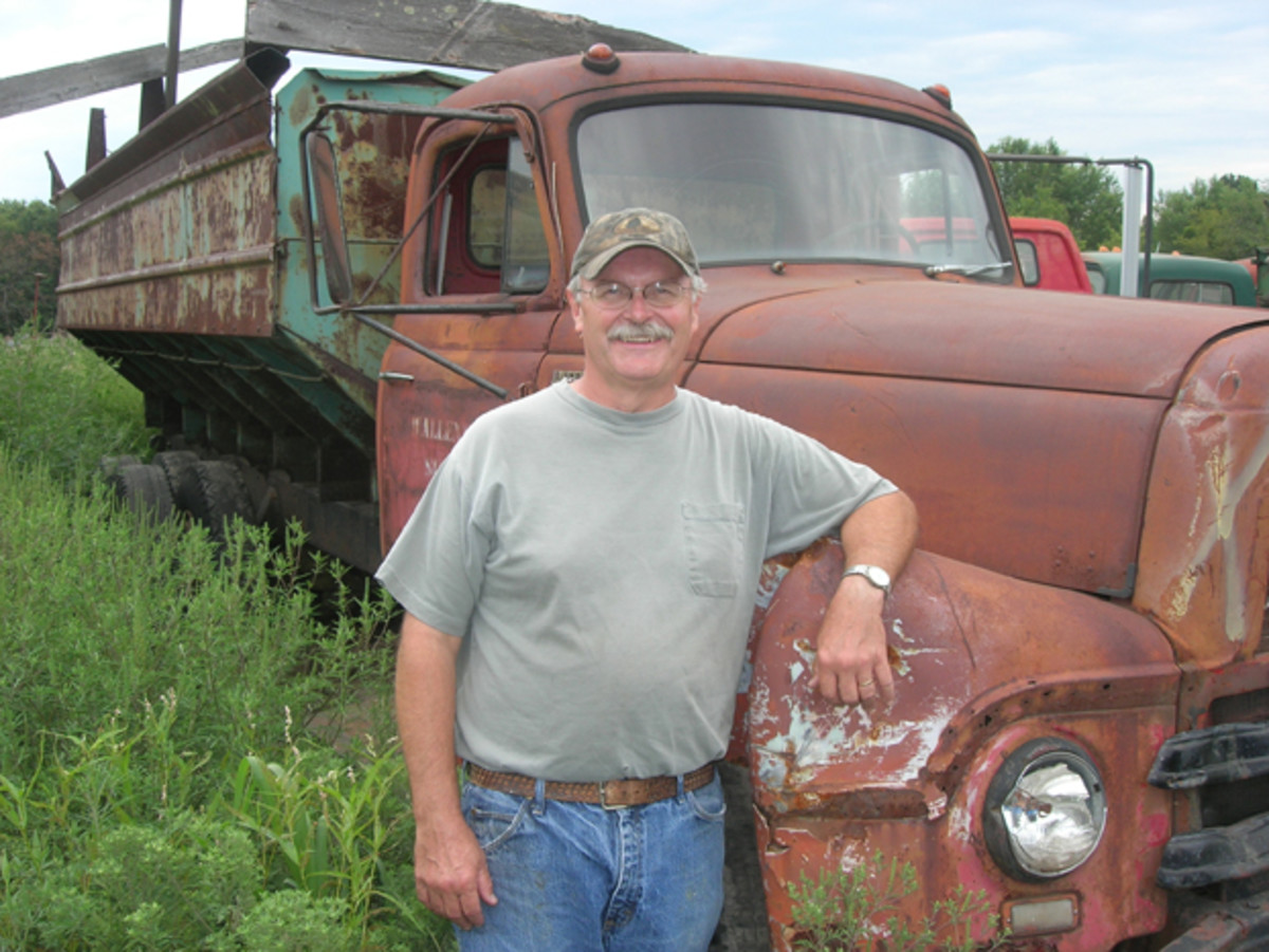 The caretaker of the Nash and other old iron at the yard is Bob Dziewror, who manages the vintage inventory.