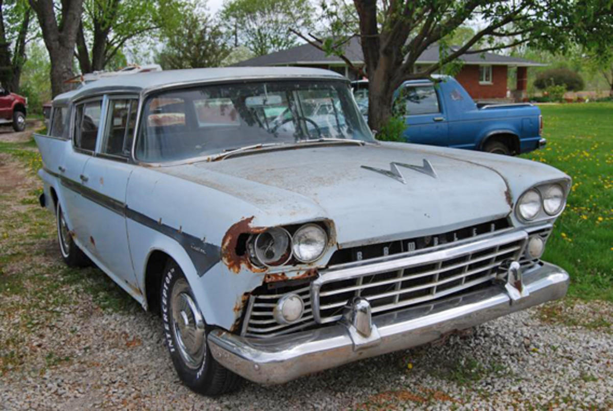 Rambler wagon had its eye punched out.