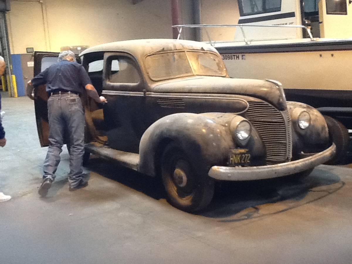 Coker contemplates a 1939 Ford Standard in an upcoming episode.