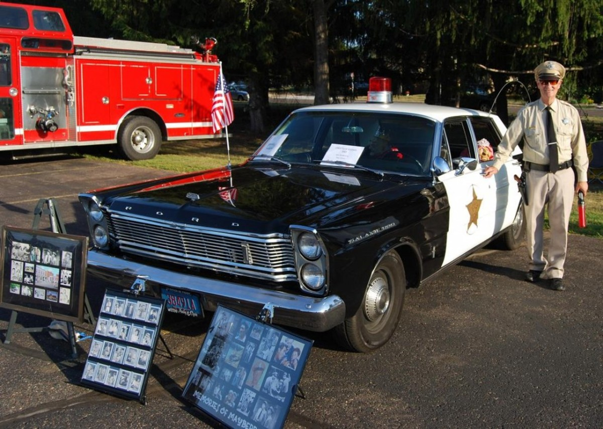 Barney Fife was also at the Big Rig Show.