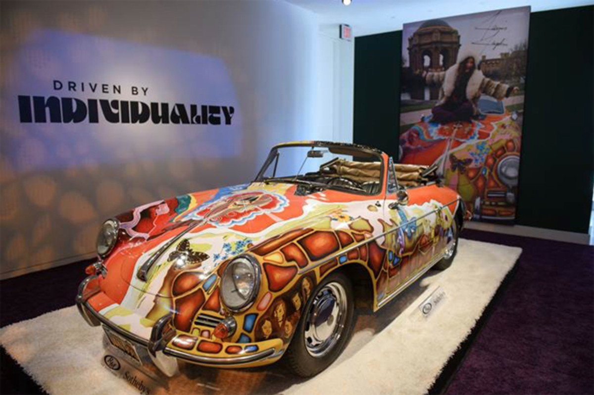 The record-setting Janis Joplin Porsche (credit Grant Lamos Getty Images, courtesy RM Sotheby's)