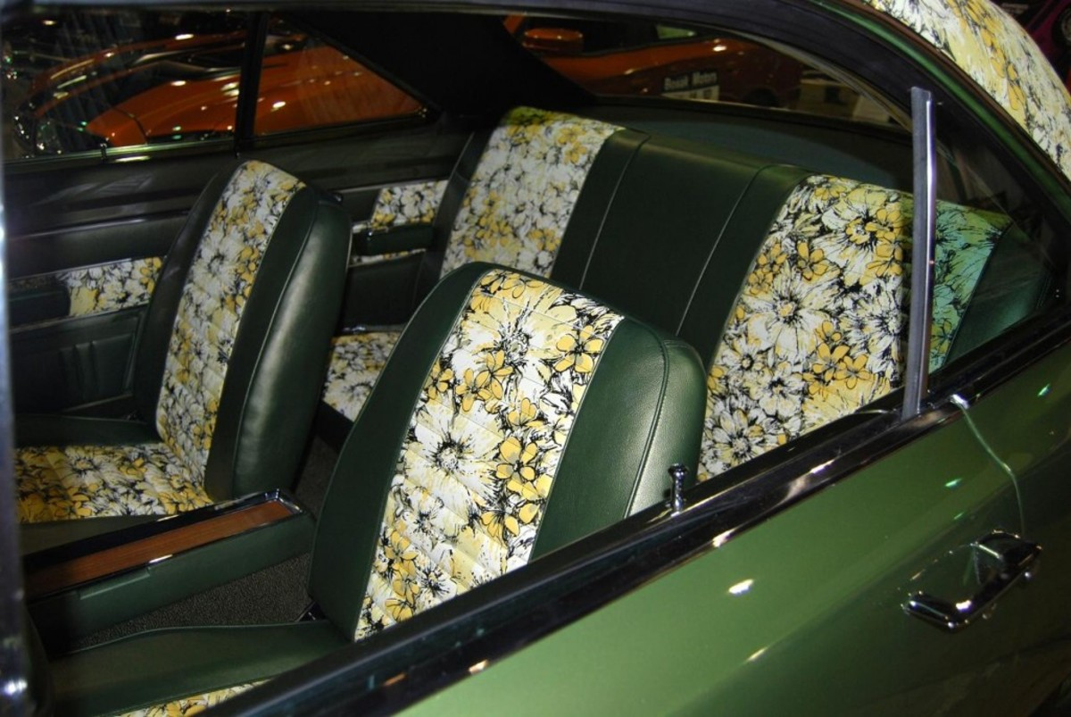 The seat inserts matched the roof.
