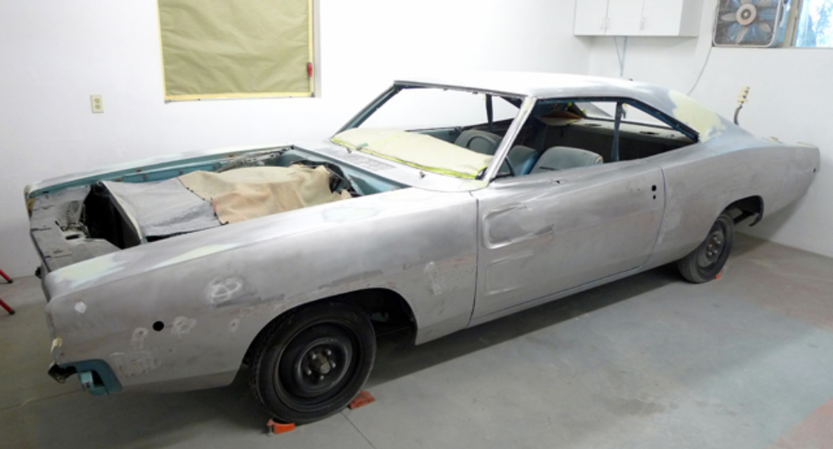 """Just look at those body lines. If you've """"been there, done that,"""" you likely have a horror story on tap. After a good going over with 80-grit on a dual-action sander, and further cleaning with grease and wax remover with sterile, disposable toweling, filler work can begin."""